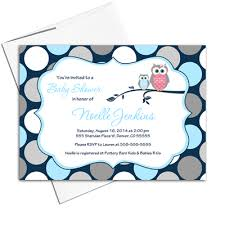 Owl Baby Shower Invitations For Boy