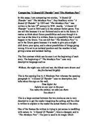 essay on sound of thunder a sound of thunder essay uk essays