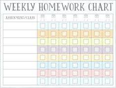 16 Best Homework Chart Images Chores For Kids Chore Chart