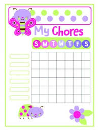 Cute Chore Chart Cute Bugs Printable Chore Chart