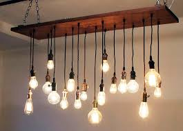 the bulbs of edison bulb chandelier