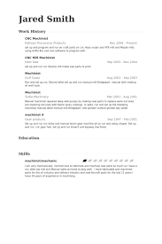 Machinist Resume Template Cool Cnc Machinist Resume Samples VisualCV Resume Samples Database