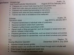 ... Bunch Ideas of Sample Resume For Subway Sandwich Artist In Format  Layout ...