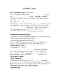 Sample Rental Agreement | Leasehold Estate | Landlord