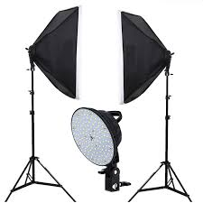 led photography light continuous lighting photo studio kit 2x5500k led lights softbox