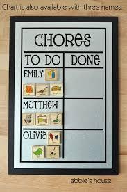 Multiple Name Chore Chart 9x13 Magnetic Chore Chart