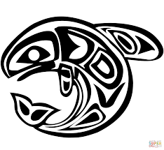Small Picture Haida Art Whale coloring page Free Printable Coloring Pages