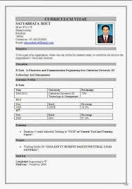Resume Format For Call Center Job For Fresher Resume Template Easy