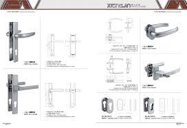 detail description durable and simple appearance door handle