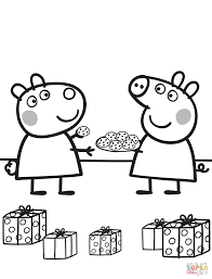 Small Picture Peppa Gives Suzy Cookies coloring page Free Printable Coloring Pages