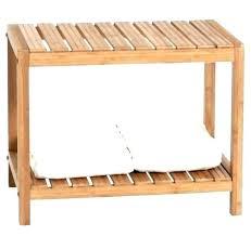 bamboo shower bench teak furniture fetching seat with storage shelf amazing bamb
