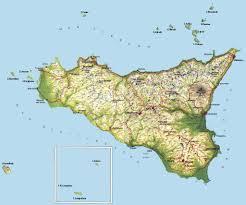 Kaart Sicilie Golfreizen Golfvakanties