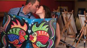 drink your favorite wine and paint your way to a finished work of art visit the paint with a twist calendar for the latest date night ideas