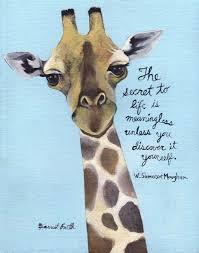 W Somerset Maugham And A Giraffe BK Reader Inspiration Giraffe Quotes