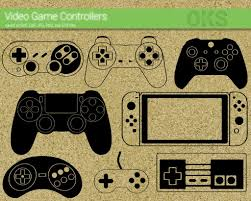 The following page uses this file: Video Game Controller Svg Dxf Vector Eps Clipart Cricut Download Video Game Controller Svg Video Game Drawings