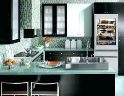 view in gallery fabulous kitchen blue and green with a inch wide integrated glass door refrigerator