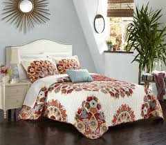 king free your spirit with this amazing large scale bohemian paisley globally inspired quilt set