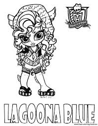 Small Picture Coloring pages Monster High Lagoona Blue Free Printable Coloring