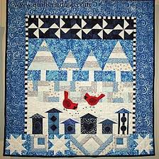 20 best Winter theme quilts images on Pinterest | Bird patterns ... & winter themed wall hanging Adamdwight.com