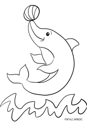 Dolphin Coloring Pages Free To Print Portale Bambini