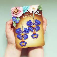 Design By Kieto Blue Dreams Wooden Earrings
