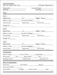 Family Vacation Itinerary Template Excel – Poquet