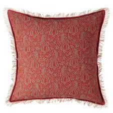 exterior scatter cushions. meerabai cushion cover, large - red/turquoise exterior scatter cushions