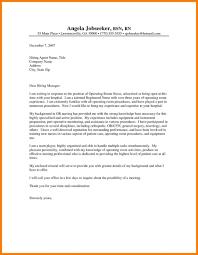 Nursing Resume Cover Letter Examples Registered Nurse