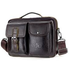 mens leather messenger bag retro laptop bag business briefcase shoulder bag brown cod