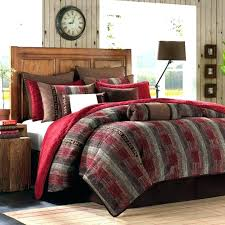 Red And Black Queen Size Comforter Set Black Comforter Set Red Black ...
