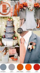 November wedding colours { Grey and Shades of Orange Wedding Palette } Fab  Mood #wedding