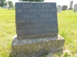 Josie Viola Hendricks (1895-1896) - Find A Grave Memorial
