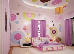 Polka Dots Wallpaper Bedroom Design