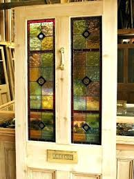 stained glass interior doors home depot craftsman traditional leaded beveled entry side antique reclaimed front door