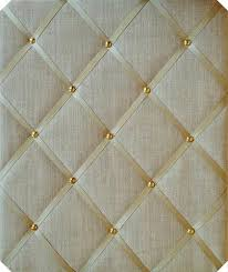 Memo Board With Ribbon Magnificent Gold Linen Gold Notice Board The Notice Board Store