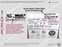 york gas package units. york data plate gas package units 2