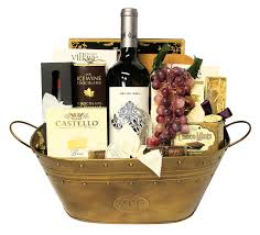 time for wine gift basket