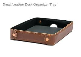 leather desk accessories brown