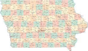 iowa road map  iowa • mappery