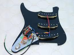 gilmour scratchplate pickguard ironstone electric guitar pickups