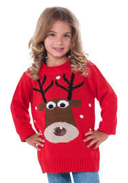 Child Reindeer Christmas Sweater Ugly