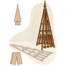 Small Picture How to Build a Pyramid Trellis Homemade House and Search