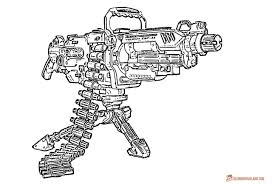 Small Picture Gun Coloring Pages Download and Print for Free