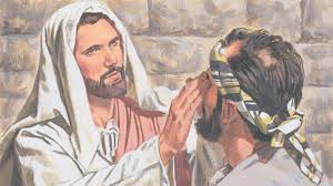 Image result for pictures of Jesus healing the blind man