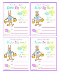 easter egg hunt template easter egg hunt printable invitation with rabbit ziggity zoom