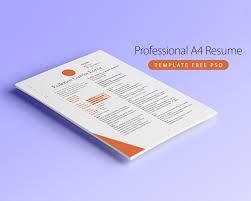 Professional A4 Resume Template Free Psd At Downloadfreepsd Com