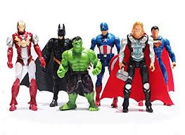 6Pcs/Set The Avengers Superheroes Figures Thor ... - Amazon.com
