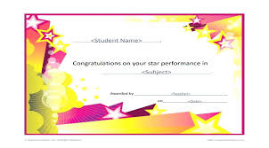 Star Of The Month Certificate Template Star Of The Month Certificate Template Condo Financials Com