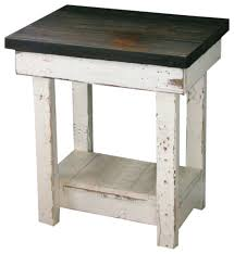 distressed black dining room table. Distressed Black End Table White Rustic Side Tables And Dining Room M