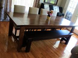 Kitchen Table With Bench Set Enrapture Dining Room Bench Diy Tags Diy Kitchen Table Metal